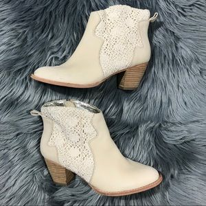 Miss Albright Anthropologie Crochet Lace Bootie